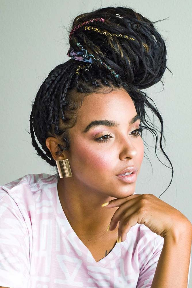 The Latest Trends In Black Braided Hairstyles #braids #naturalhair #updo #bun