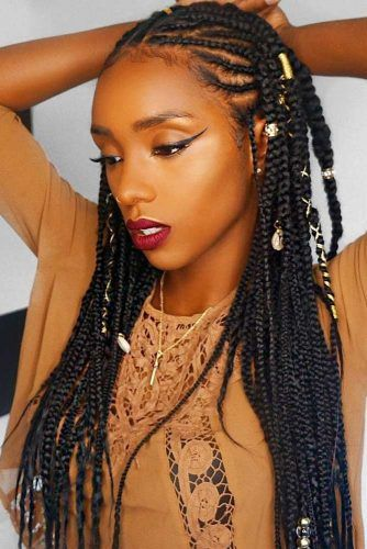 Accessorized Fulani Braids #braids
