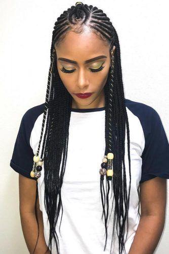 Fulani Crown With Horizontal Braids #fulanibraids #braids