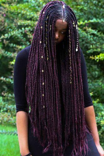 Super Long Braids With Cuffs #fulanibraids #braids
