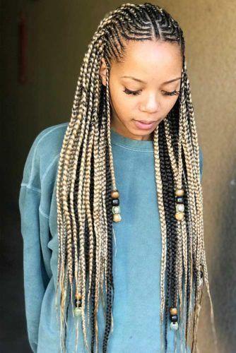 Fulani Braids With Loose Cascading Plaits #fulanibraids #braids