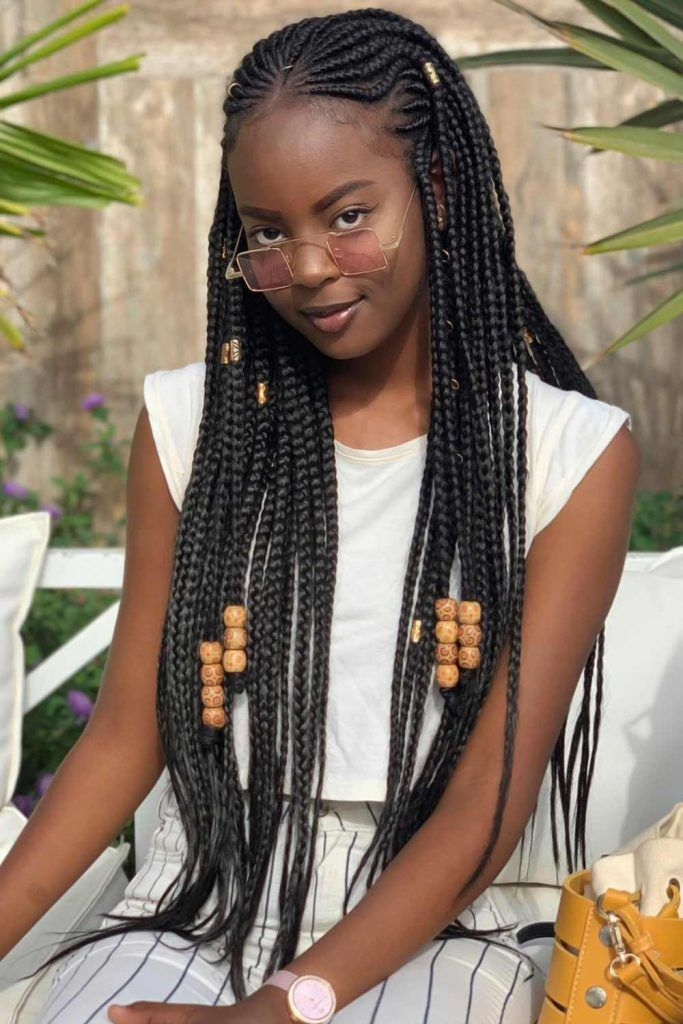 Fulani Braids With Massive Beads #braids #fulanibraids
