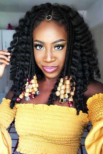 Wavy Fulani Braids Styling With Beads #braids