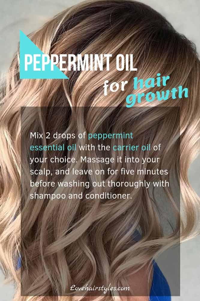 Peppermint Oil #hairgrowthtips #hairoil