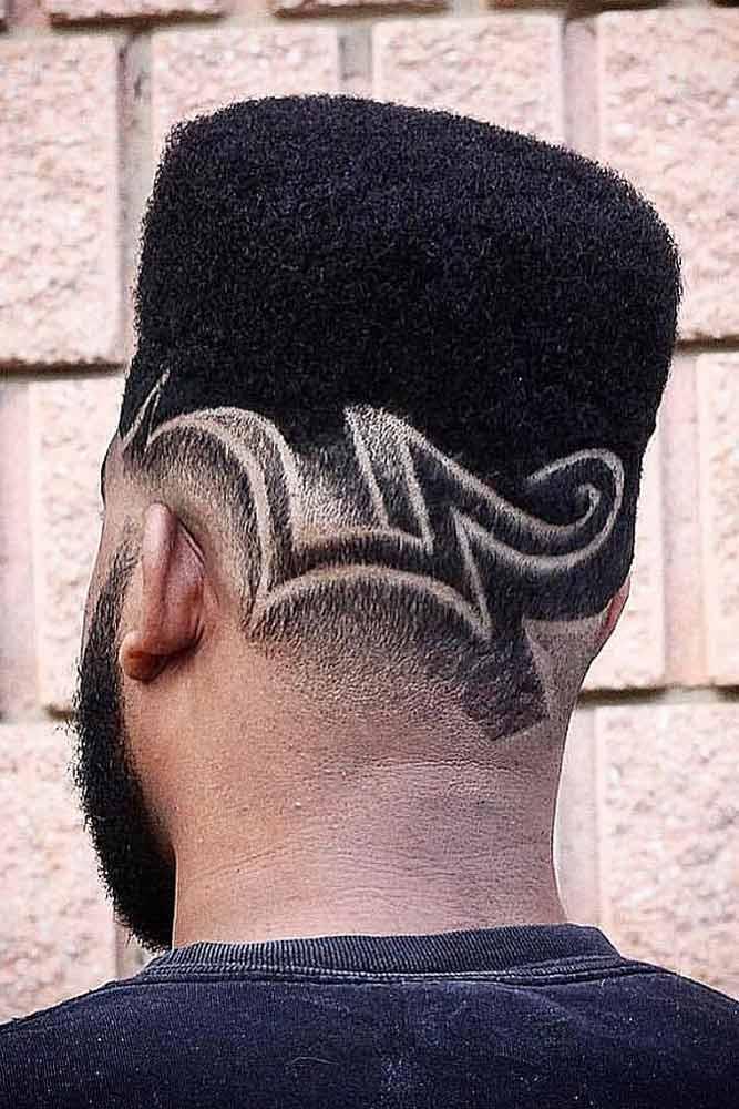 High Flat Top With Pattern Fade #hightopfade #fadehaircut #afrohair #afroamericanhaircut #spongehair #menshaircuts