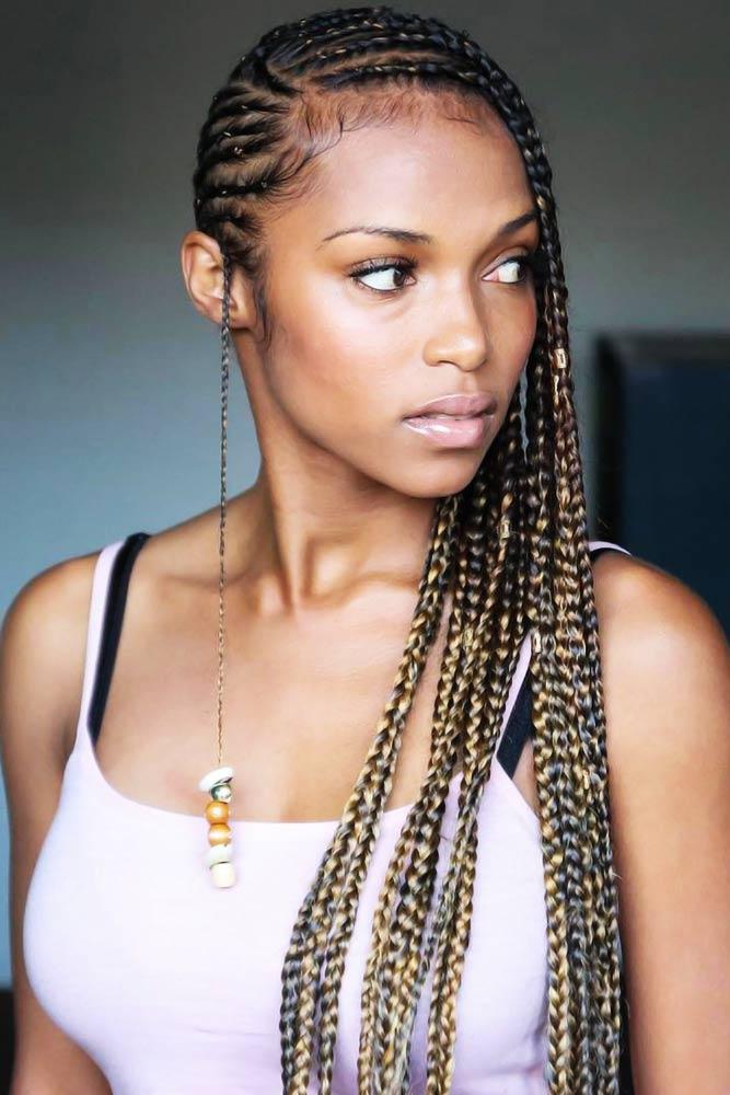 Lemonade Braids With Beads #braids #lemonadebraids