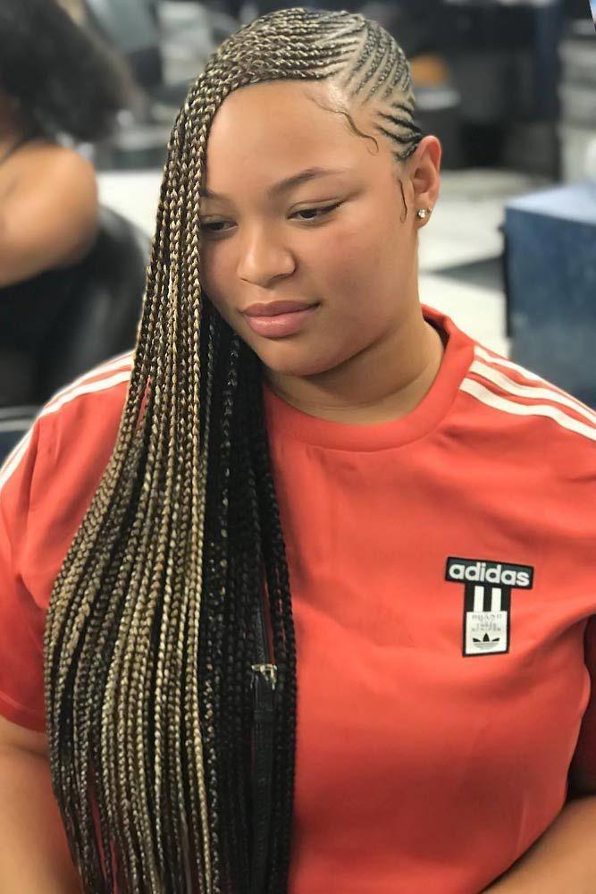 Lemonade Braids With Color Accents Blonde #braids #lemonadebraids