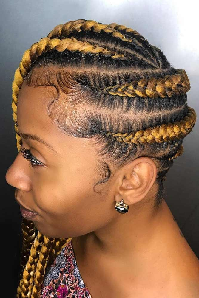 Bright Side Braids With Blonde Hair #braids