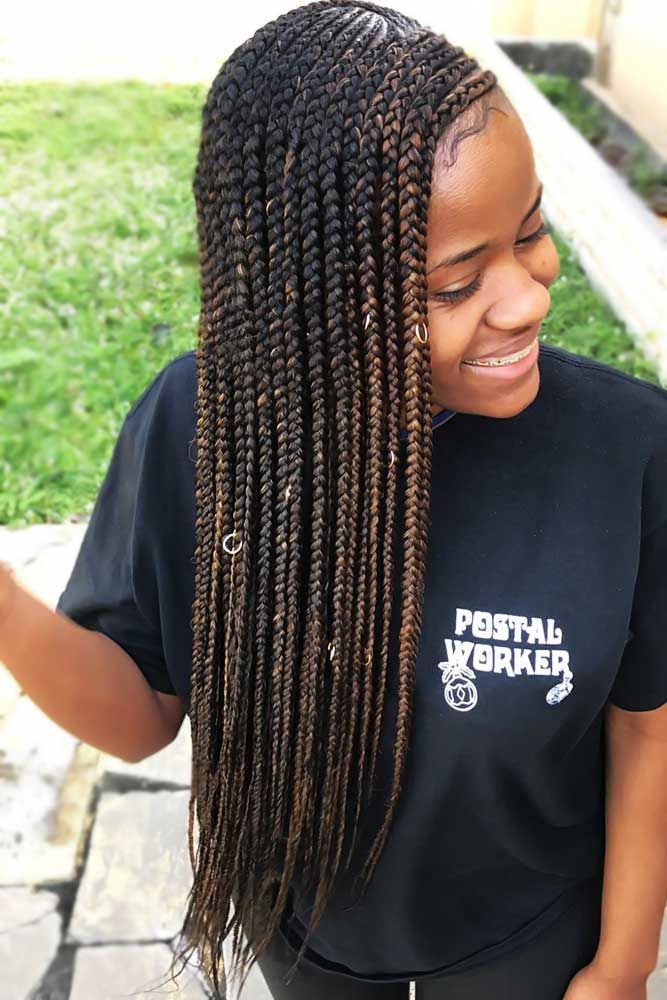 Lemonade Braids With Color Accents Brown #braids #lemonadebraids