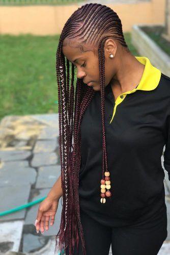 Opposite Braids Style Beads #braids #lemonadebraids