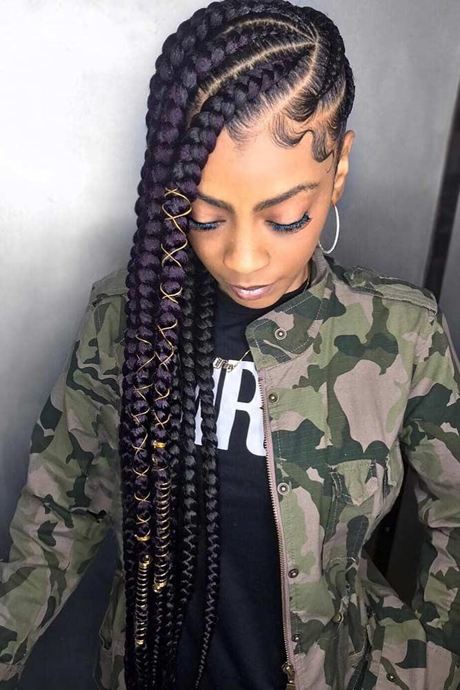 Wheel-Patterned Jumbo Lemonade Braids #braids