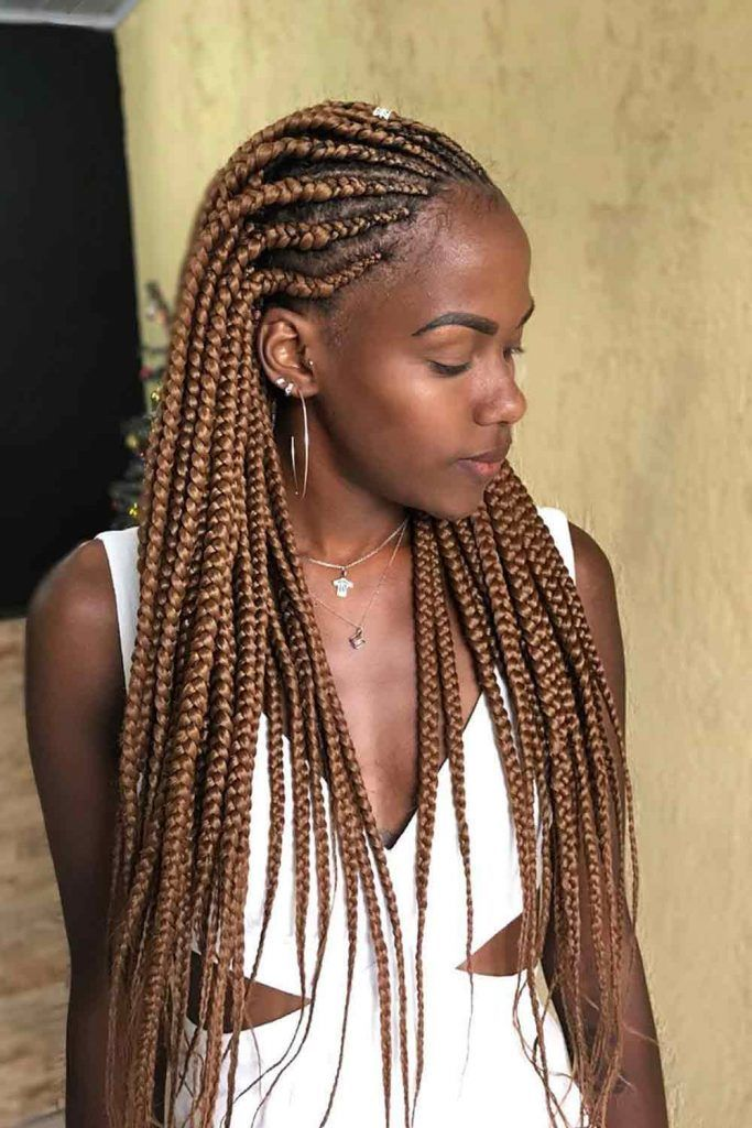 Pulled Back Lemonade Braids #easyhairstyles #casualhairstyle