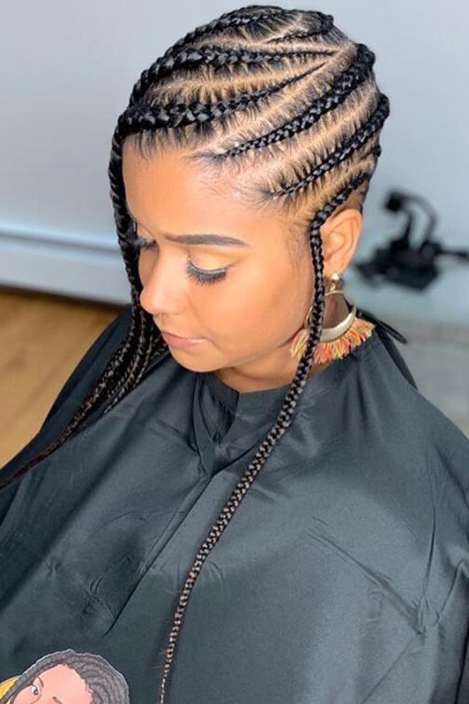 Opposite Braids Style Single #braids #lemonadebraids