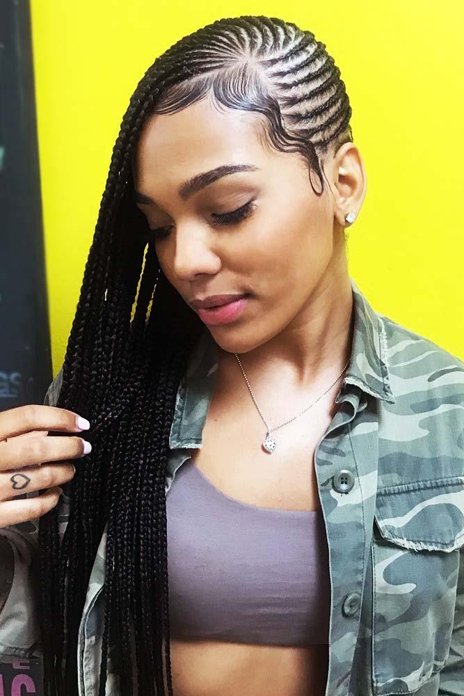 Simple And Straightforward Lemonade Braids #braids