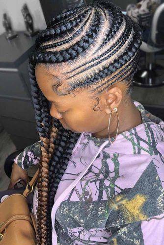 Thick And Thin Braids Combo #braids