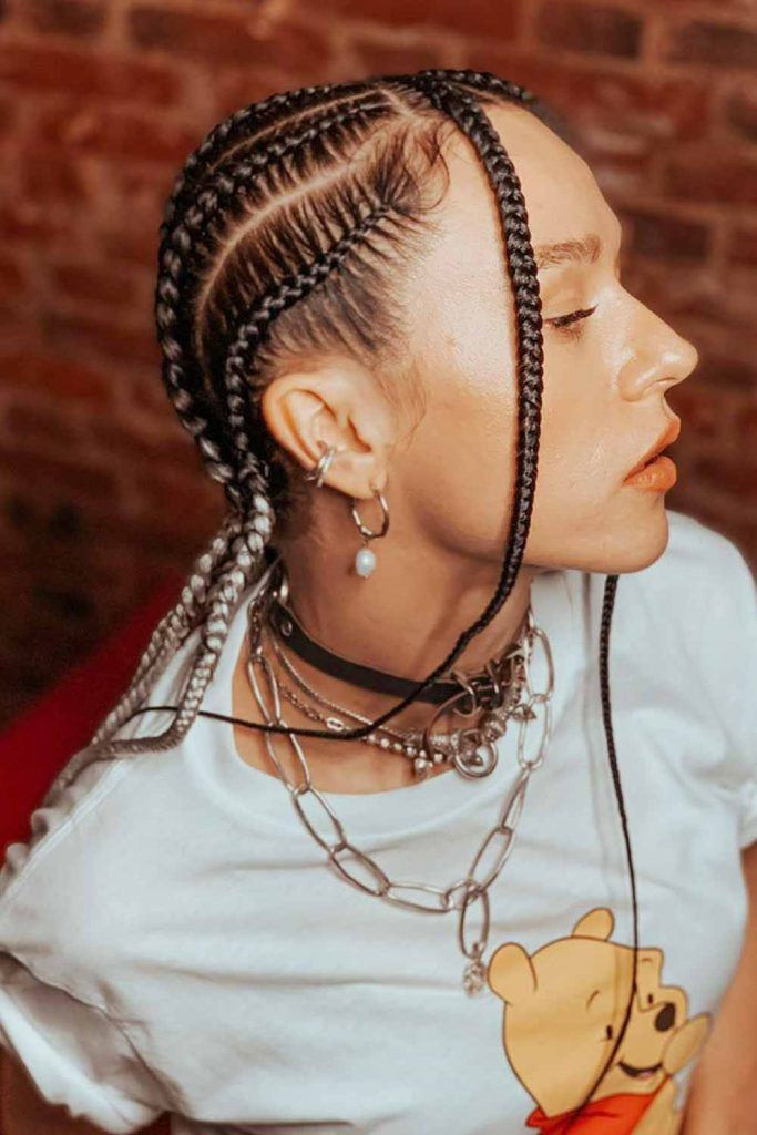 Micro Lemonade Braids Hairstyle #hairstyles #hair