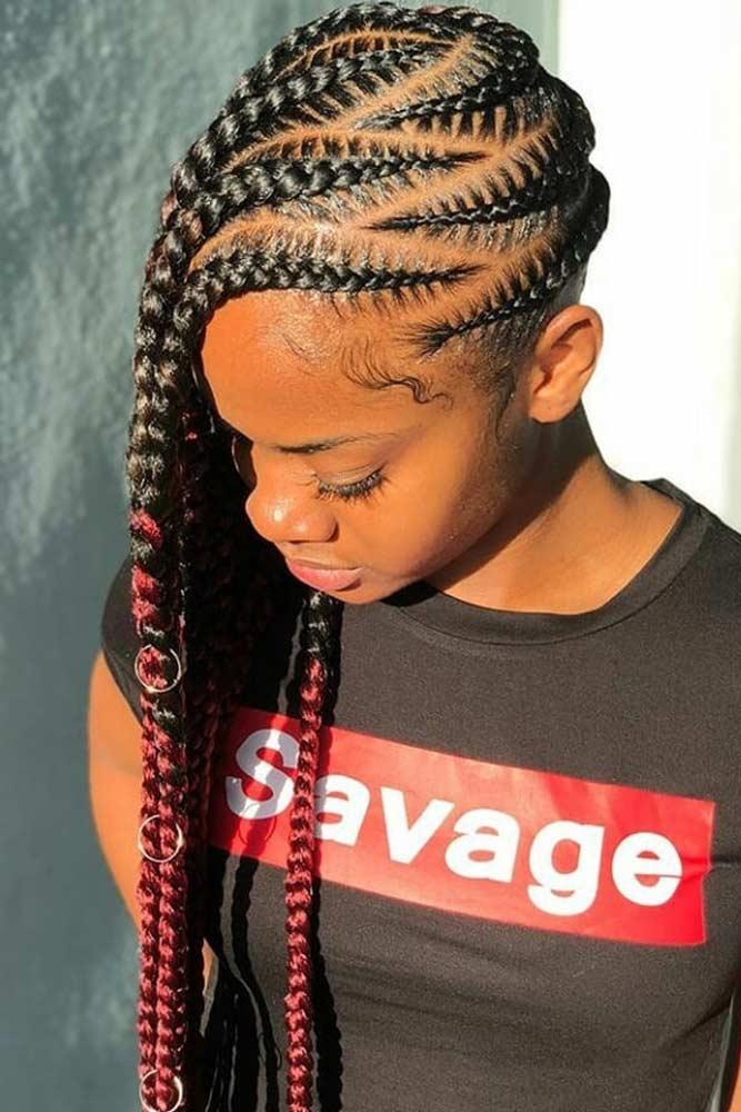 Zig-Zag Lemonade Braids #braids