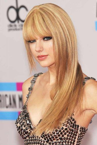 Long Style With Full Fringe #bangs #longhair