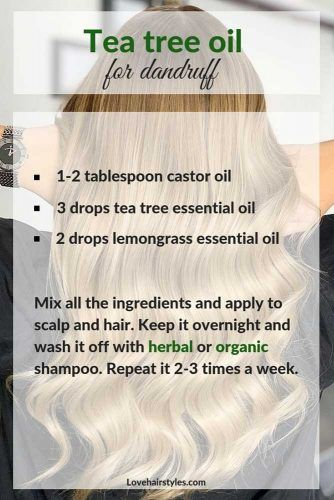 Tea Tree Oil To Figth Dandruff #hairtreatments #teatreeoilforhair