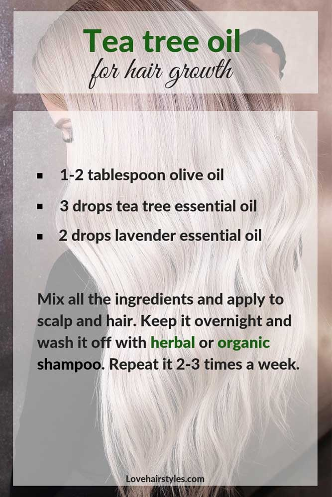 Tea Tree Oil For Longer, Thicker Hair #hairtreatments #teatreeoilforhair