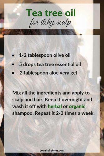 Tea Tree Oil For Itchy Scalp #hairtreatments #teatreeoilforhair