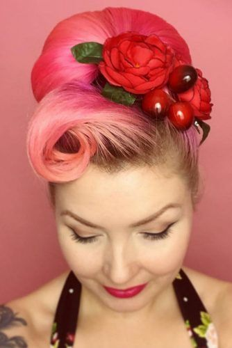 Rolls And Bouffant #updo #victoryroll