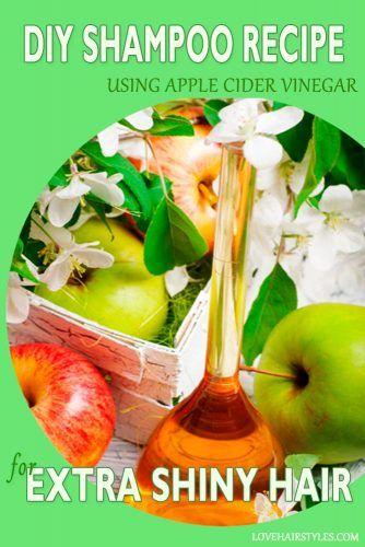 Homemade Apple Cider Vinegar Shampoo #shampoo #shampootypes #hairproducts