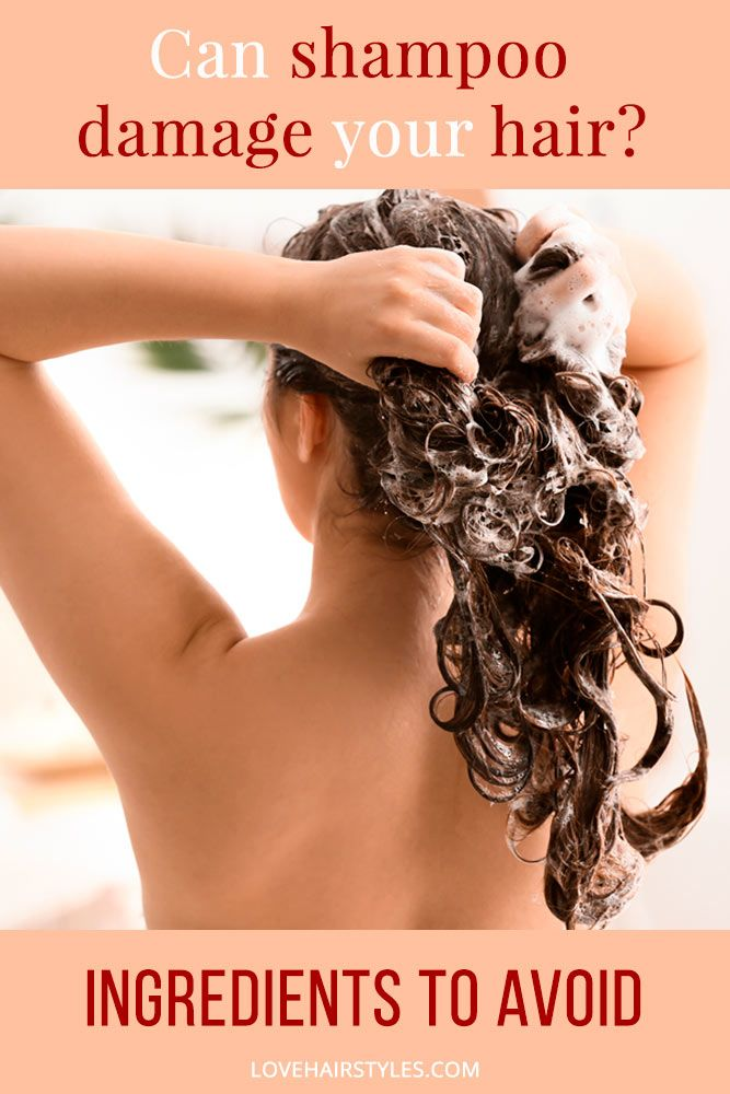 Can shampoo damage your hair #shampoo #shampootypes #hairproducts