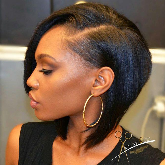 Angled Straight Bob #bobhairstyles #hairstyles #haircuts #bobhaircuts
