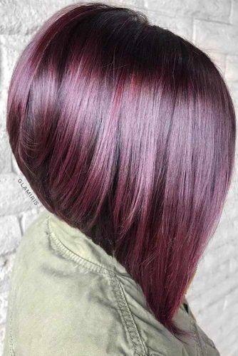Stacked Straight Lob #bobhairstyles #hairstyles #haircuts #bobhaircuts
