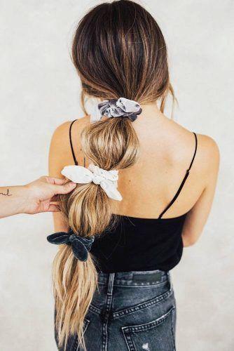 Bubble Pony #updo #ponytail #scrunchies