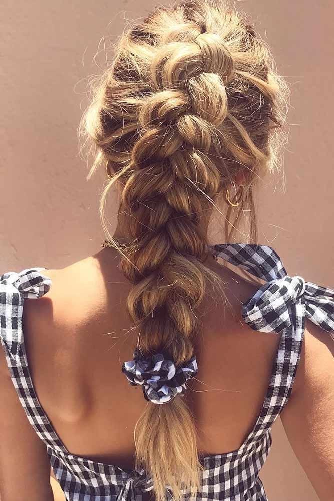 Dutch Braid Pony #updo #ponytail #braids