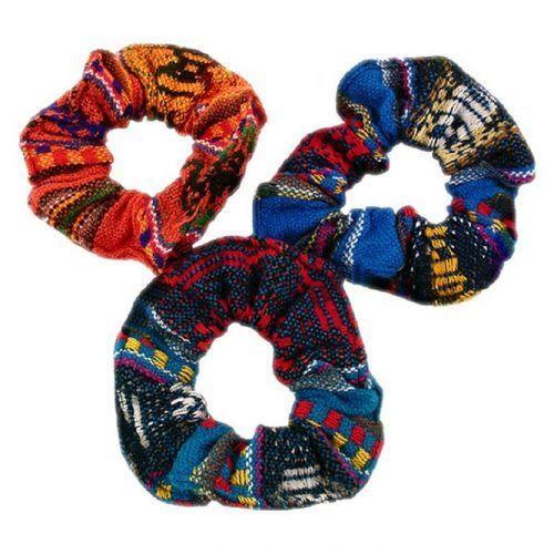 Multicolored Manta Cotton Hair Scrunchies #scrunchies