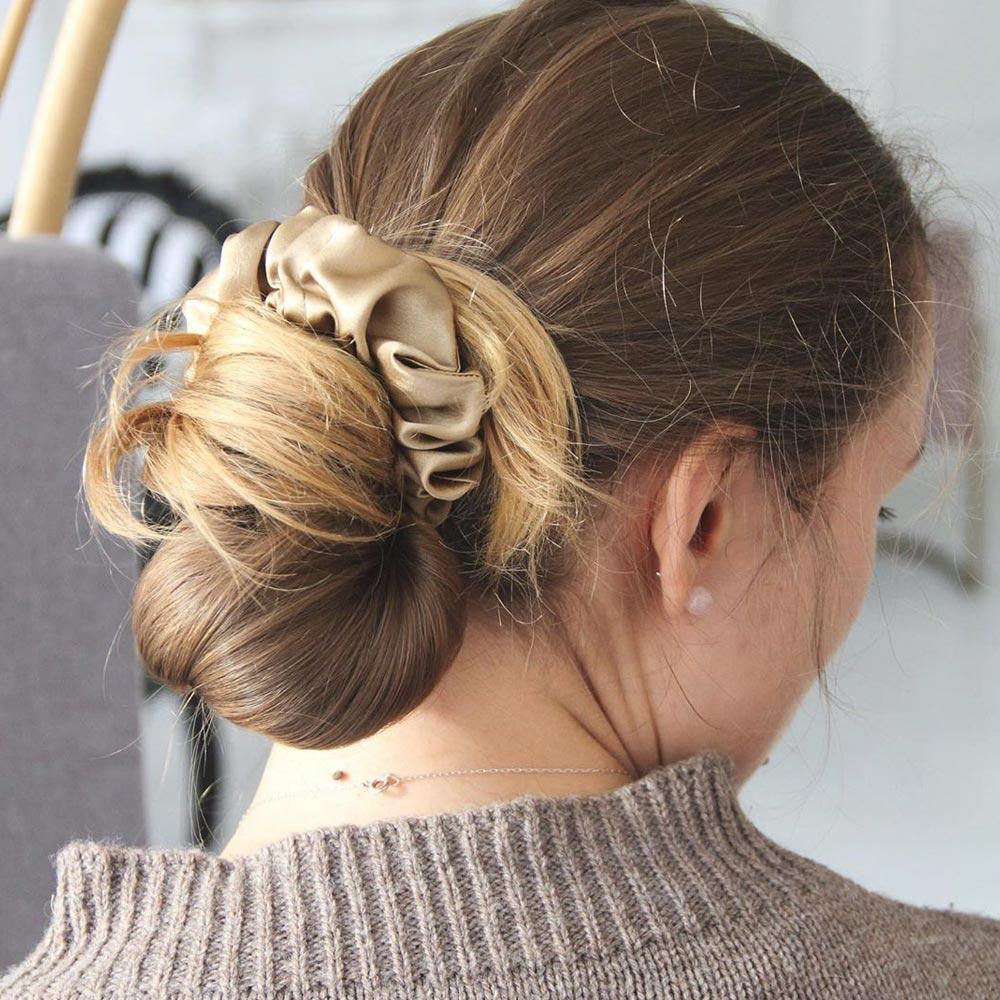 Low Bun Hairstyle Idea