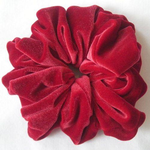 Red Velvet Hair Scrunchies #scrunchies
