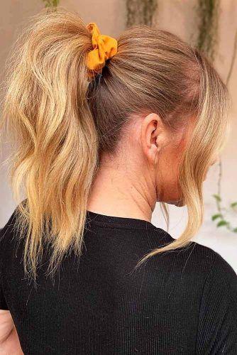 High Pony #updo #ponytail #scrunchies