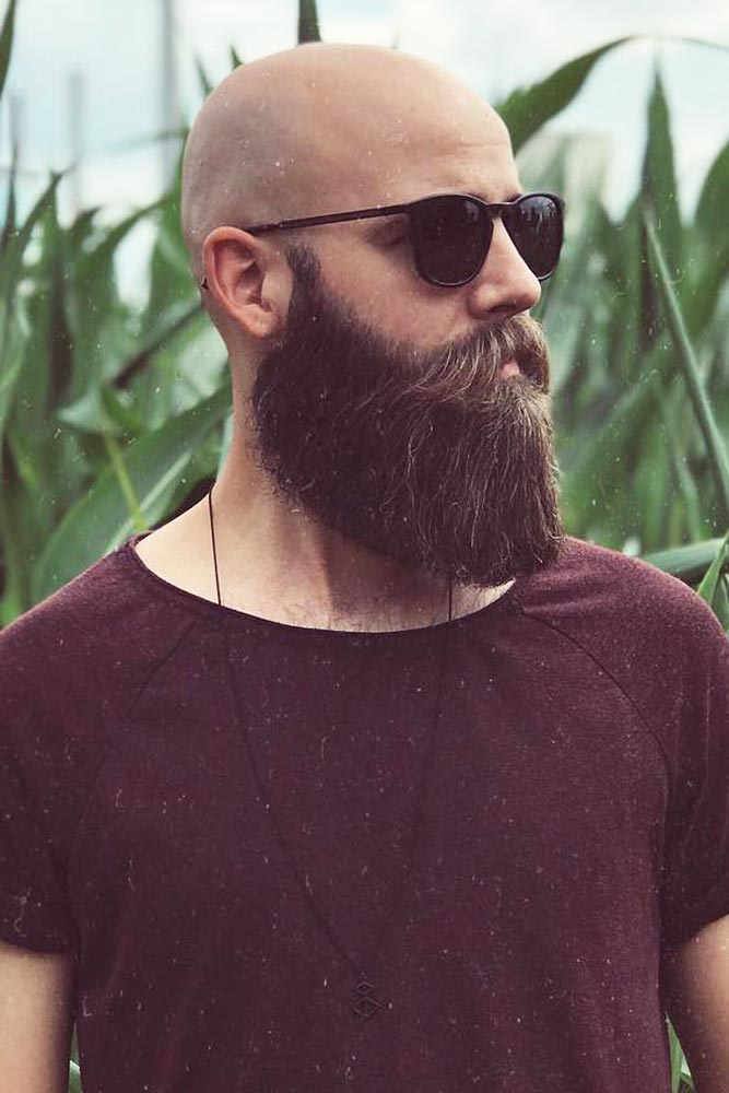 Bald Head And Beard #baldhead #beard #fullbeard #hipster #hipsterhaircut