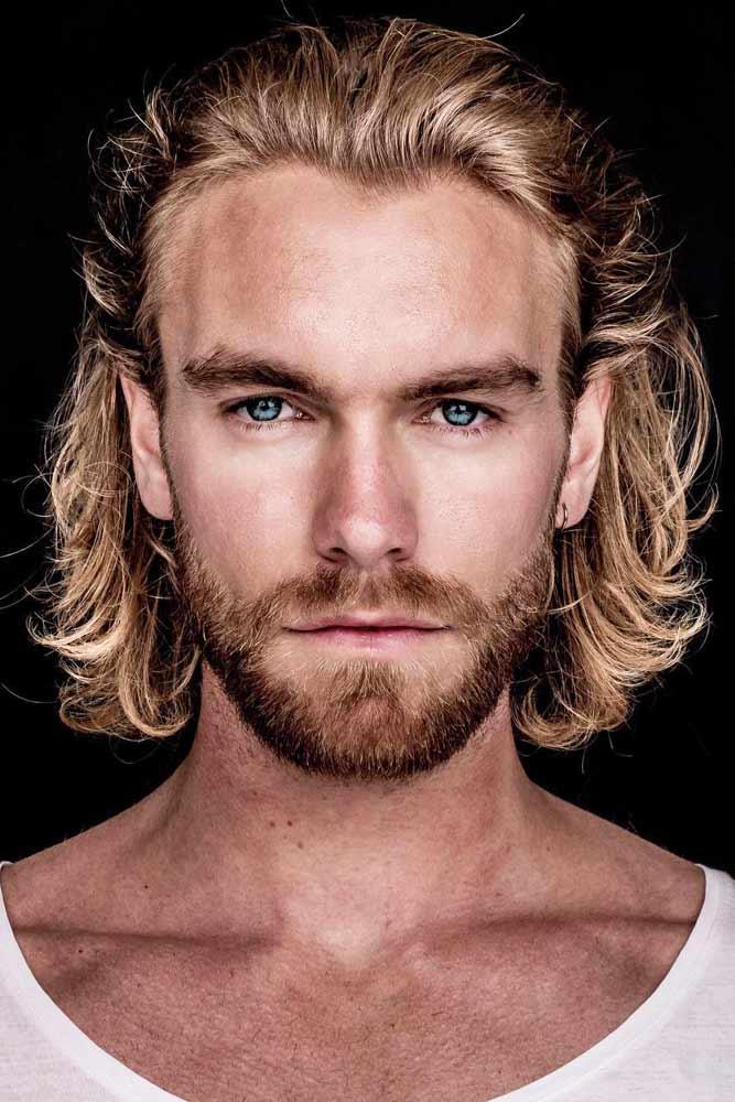 Slicked Back Mid-Length Mane And Short Beard #hipster #hipsterhaircut #longhairmen