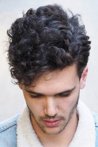 Rockabilly-Inspired Curly Top #curlyhairmen #hipster #hipsterhaircut