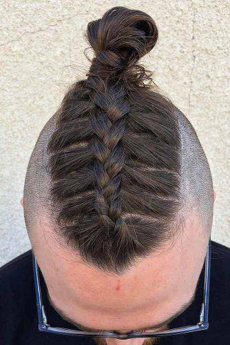 Creative Man Braid #manbun #manbraid #hipster #hipsterhaircut