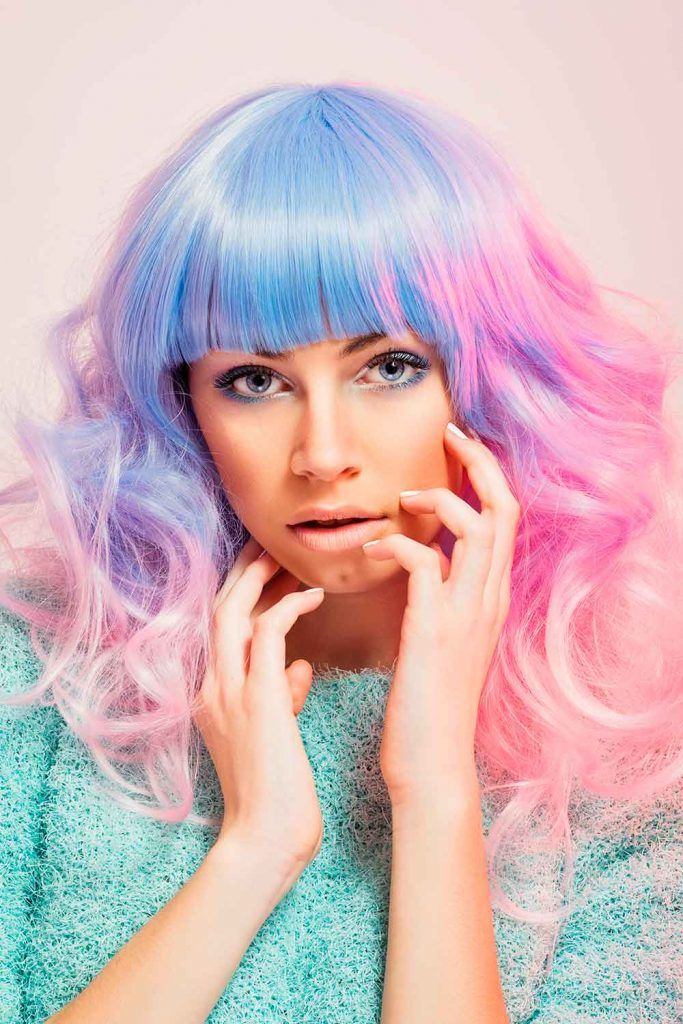 Candy Pastel Holographic Hair