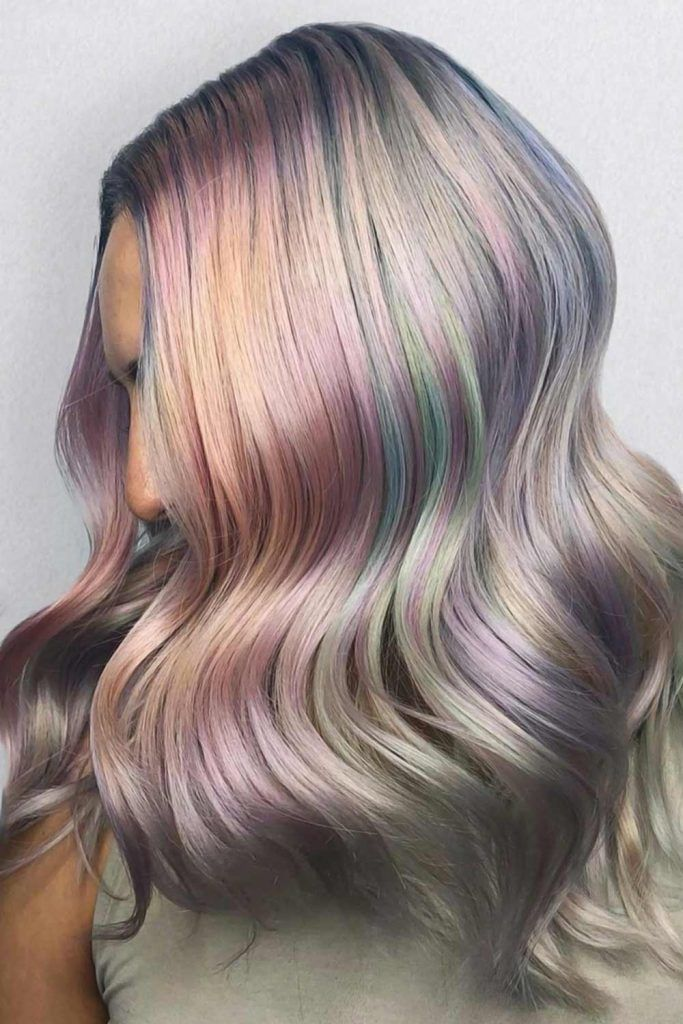 Iridescent Bubble Holographic Waves #holographichair