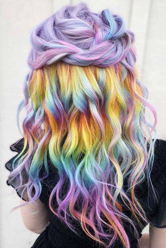 Candy Pastel #holographichair #rainbowhair