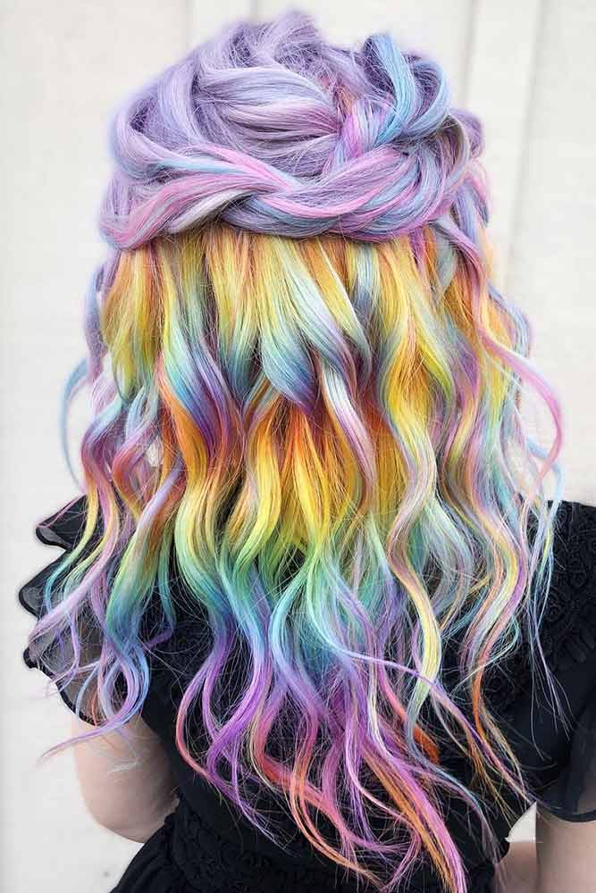 Candy Pastel Holographic Hair #holographichair #rainbowhair