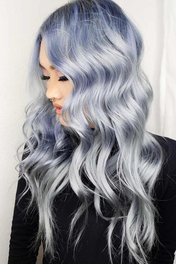 Holographic Denim #holographichair #bluehair