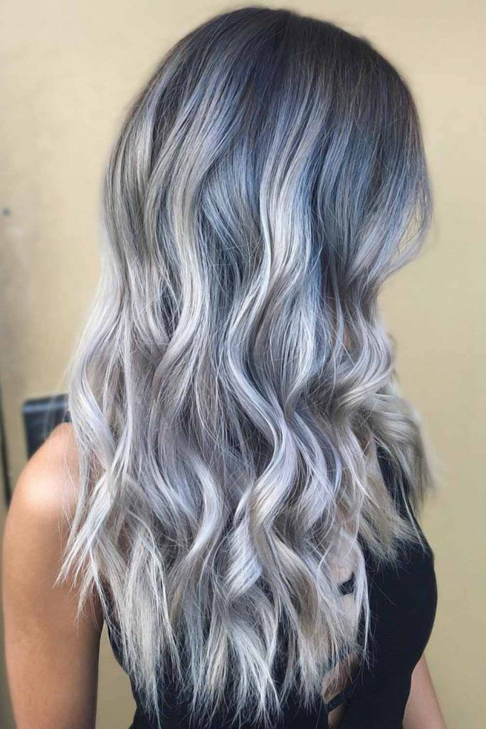 Holographic Denim Ombre #holographichair