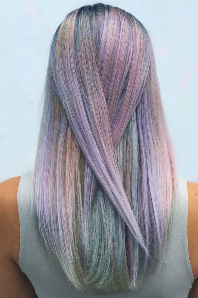 Icy Pastel Straight #holographichair