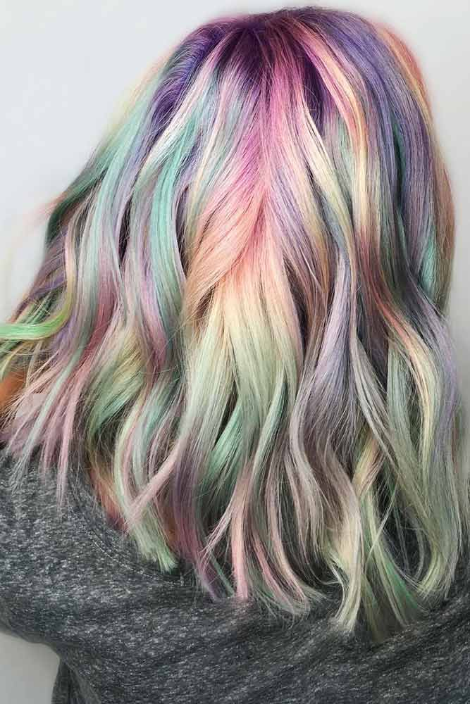 Iridescent Bubble Holographic #holographichair