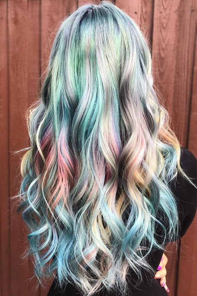Iridescent Glacier Holographic Hair #holographichair