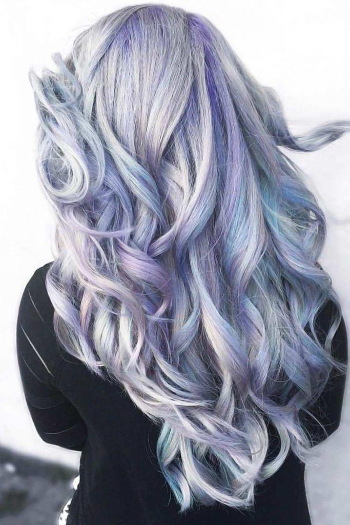 Lavender & Sky Blue Tones Waves #holographichair